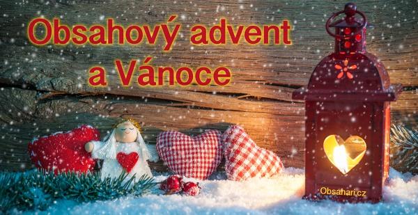 Obsahový advent a Vánoce.